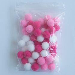 Помпоны для слаймов розовые